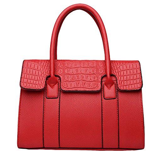 Handtasche Kuriertasche Schultertasche Casual Mode Atmosphäre Elegante Mittelalterliche Mutter Tasche Handtaschen Red