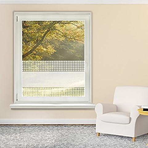 Fensterfolie–Adhesivo decorativo para ventana, diseño de cuadros baño cuarto de baño, 50 x 90 cm