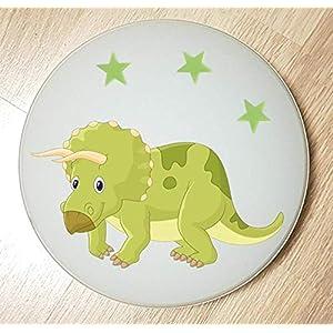 Deckenleuchte/Wandlampe * DINOS Dinosaurier 4 grün * auch LED - mit/ohne Name