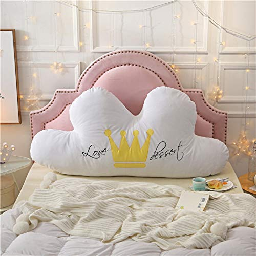World Kissen Cloud Kissen Crown Bettruhe Bedside Pillow Removable Tatami Soft Bag Doppelkopf Lange Kissen Große Rückenlehne 5 Farben, mehrere Größen (Farbe : B, größe : 180 * 75)