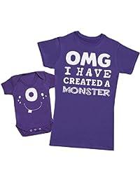 OMG I've Created A Blanc Monster! - Ensemble Mère Bébé Cadeau - Femme T Shirt & bébé bodys