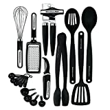 KitchenAid 15tlg Werkzeuge und Gadget Set, schwarz 17-Piece Set schwarz