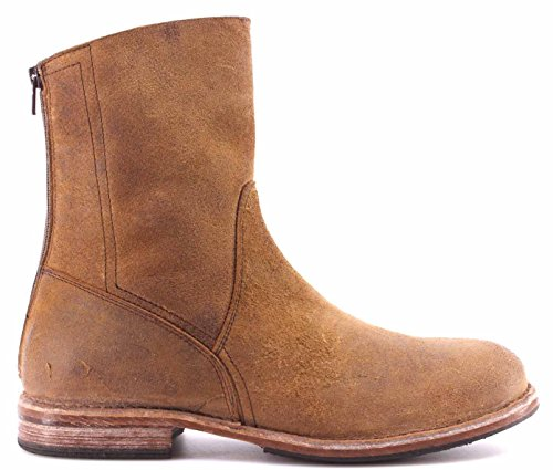 Moma Chaussures Homme Bottes 59601-Y2 Pelle Waxy Teak Zip Back Vintage Italy New