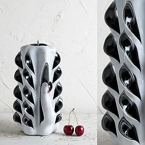 Brautduschen-Geschenk-Ideen - Weiß Schwanen-Stil - dekorativ geschnitzte Kerze - EveCandles