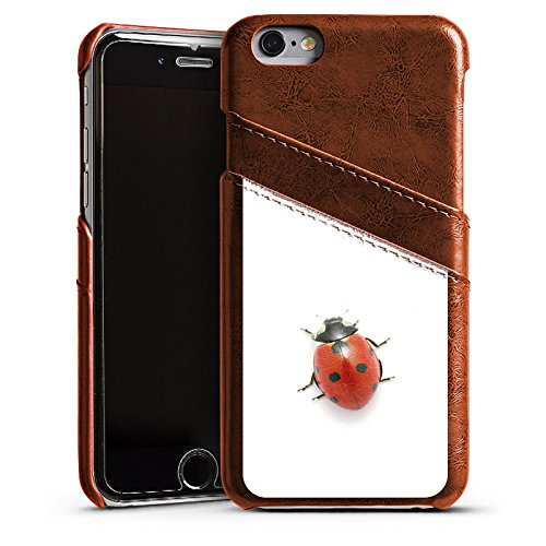 Apple iPhone 4 Housse Étui Silicone Coque Protection Coccinelle Coccinelle Insecte Étui en cuir marron