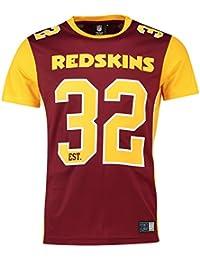 187ba4f64 Majestic T-Shirt – NFL Washington Redskins Dene Poly Mesh Maroon Yellow