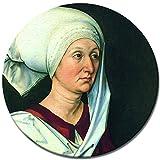 Bilderdepot24 Kunstdruck - Alte Meister - Albrecht Dürer - Portrait - Barbara Dürer - RUND - 40 cm - Leinwandbilder - Bild auf Leinwand