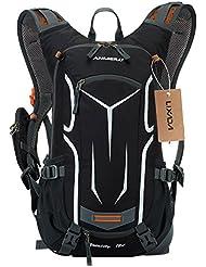 Lixada Cycling Rucksack, 18L Waterproof Bike Backpack Breathable and Lightweight Running Backpack for Fitness Running Hiking Climbing Camping Skiing Biking Trekking