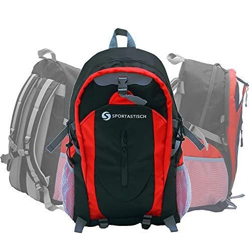 Sportastisch Top Produkt¹ Rucksack Sporty Backpack mit Laptop Fach, 30L Wanderrucksack für Damen Herren Teenager, Trekkingrucksack für Uni Reisen Arbeit, Schulrucksack mit biszu 3 Jahren Garantie²
