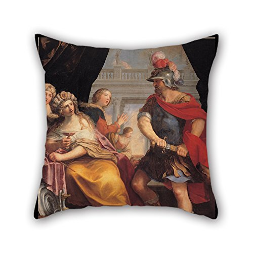 beautifulseason The Oil Painting Giovanni Andrea Sirani - Ulysses and Circe Throw Pillow Case of,20 X 20 Inches/50 by 50 cm Decoration,Gift for Car,Teens Boys,Christmas,Club,Family,Christmas (TWI -