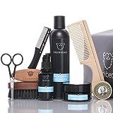 ORIGINAL blackbeards Bartpflege Set Ultimativ Minze-Menthol – Hochwertiges Set für alle Vollbärte – Für die tägliche Bartpflege – Zehnteiliges Set mit allem, was dein Bart braucht.