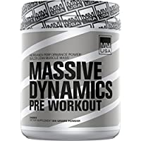 Muscle Builder (Massive Dynamics) MMUSA Mens Bodybuilder, Muscle Power, Stamina and Energy. Creatine + Beta Alanine for Maximum Strength