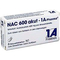Preisvergleich für NAC 600 akut-1A Pharma Brausetabletten 6 St Brausetabletten
