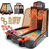 Juego de tiro de baloncesto Juguete con expulsión de dedos Mesa de escritorio doble Juegos de baloncesto Juegos clásicos de arcade Interacción entre padres e hijos Juguetes educativos para niños
