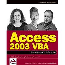 Access 2003 VBA Programmer's Reference (Programmer to Programmer)