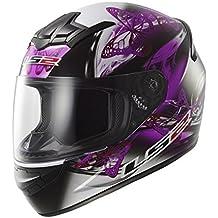 LS2 FF351 FF352 - Casco integral de mujer para motocicleta, diseño ondulante de color rosado