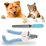 RCRuning-EU Coupe Ongle Chien, Coupe-Griffes Professionnel Lime à Ongles pour Chien Chat Lapin Animaux, Pet Nail Clipper Set for-Bleu