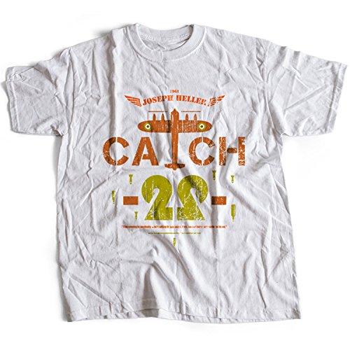 5010w Catch-22 Mens T-Shirt Joseph Heller WWII Second World War John Yossarian B-25 bombardier 256th Squadron(XX-Large,White)