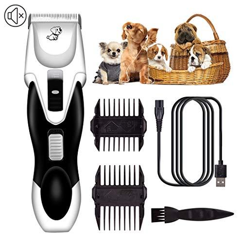 Hunde HaarschneiderHaarschneider Hundeschneidemaschinen Geräuscharme Haustierschneidemaschinen Wiederaufladbare Akku-Hundeschneidemaschine Haustierpflege-Werkzeug Professionelle Hundeschere