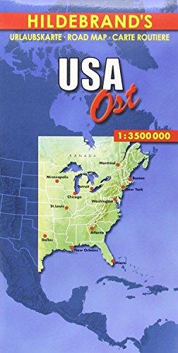 Hildebrand's Urlaubskarten, USA, Ost (Hildebrand's USA maps) -