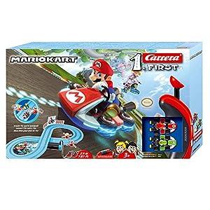 Carrera-1. First Circuito de Coches de Miniatura Nintendo Mario Kart de 2,4 m, Escala 1:50, Multicolor (20063026)