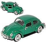 alles-meine.de GmbH VW Volkswagen Käfer 1300 Coupe Java Grün mit Weissbandreifen 1/24 Motormax Modell Auto mit individiuellem Wunschkennzeichen