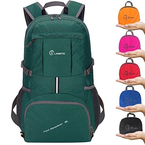 ZOMAKE 35L Ultraleicht Faltbare Wanderrucksack, Multi-Funktionale Stopfbare Wasserdichte Casual Camping Tagesrucksack für Outdoor-Sport Klettern Bergsteiger(Armeegrün)