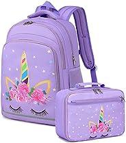 Kids Backpack,Girls Boys Toddler Backpack Preschool Bookbag with Insulation Lunch Bag