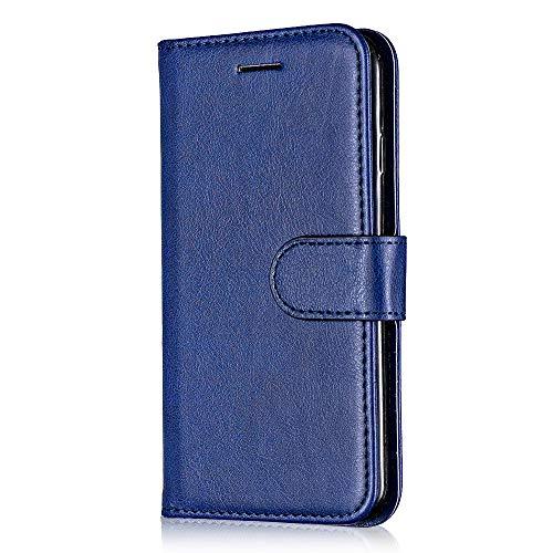 Coque Galaxy S5, Bear Village® Premium Étui en Cuir + Antichoc TPU Coque Portefeuille avec Fentes Carte de Crédit et Fonction Stand pour Samsung Galaxy S5 (#6 Bleu)