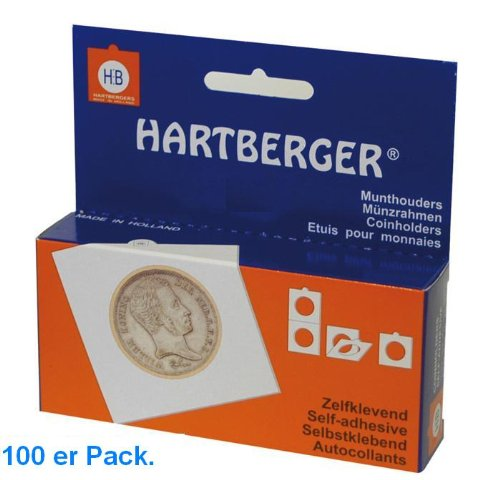100 x 53 mm Hartberger GROSSE Münzrähmchen Coinholder 67 x 67 mm selbstklebend self adhesive