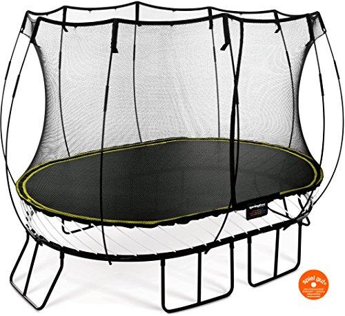 Springfree Trampolin O77 - Medium Oval 240 cm x 340 cm Reine Sprungfläche (entspricht 300 cm x 400 cm) inkl. Netz