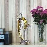 Respectueux de l'environnement Résine Matériel Ornements Danseur Femmes Artisanat Salon / Bureau / Clubhouse / Entrée / Chambre / Hall d'exposition Décoration (15 * 9 * 34cm) ( Color : Gold )