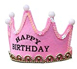 Kindergeburtstag Fun Beleuchtetes Crown Hut / Partei Führen Supplies (Pink)