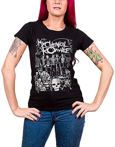 My Chemical Romance T Shirt Dead Parade officiel Femme nouveau