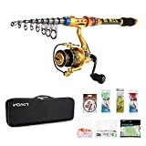 Lixada Spinner Set 3m Fishing Rod and Reel GT4000/, 100 Meter Fishing Line – Sea Fishing CarryAll Fishing Equipment