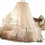 Jumbo mosquitero para la cama,Tamaño de la reina,No mordida me insecto repelente rey neto del pabellón de la cama-albaricoque 120x200cm(47x79inch)