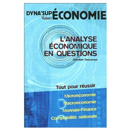 L'analyse économique en questions