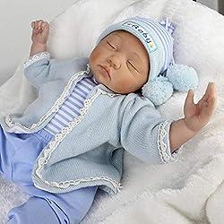 """22 """"/ 55cm Dormir muñeca Reborn Baby Doll Vinilo de Silicona Suave Juguetes para niñas Decoración del hogar"""