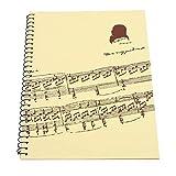 Bnineteenteam Libro de Papel del manuscrito Musical, 50 páginas en Blanco Cuaderno de partituras para músicos Papel del Personal(Puntuación Musical Amarilla)