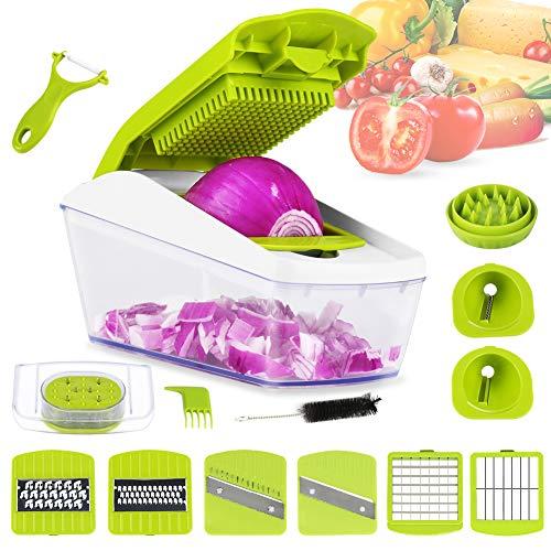 Mandolina Slicer de Verduras 14 en 1 Cortador de Verduras Patatas Frutas...