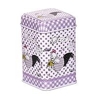 CARMANI - Cartoon Oiseaux imprimé, Collectibles Mini Métal Bibelot Tobacco Candy Tin Boîte a bijoux Piece de monnaie Thé Conteneur Micro Trésor Boîte de rangement avec des couvercles