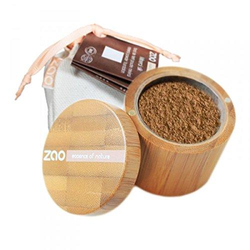 ZAO Mineral Silk 504 beige neutral loser Puder, Mineral-Make-up in Bambus-Dose (bio, Ecocert, Cosmebio, Naturkosmetik) -