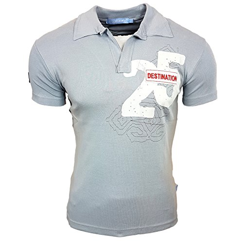 Rusty Neal Herren Polo Shirt Kragen Destination 25 RN804 Hellblau
