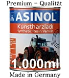 ASINOL Horsch schwarz hochglänzend 1 Liter, 1.000ml Kunstharzlack
