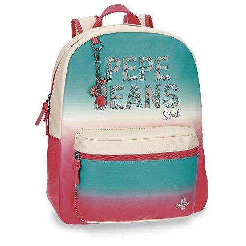 Pepe Jeans 6542351 Nicole Mochila Escolar, 42 cm, 21.5 Litros, Multicolor