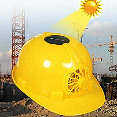 nieliangw0q Outdoor Solar Power Lüfter Schutzhelm Arbeitsplatz Schutzkappe Schutzhelm Weiß -