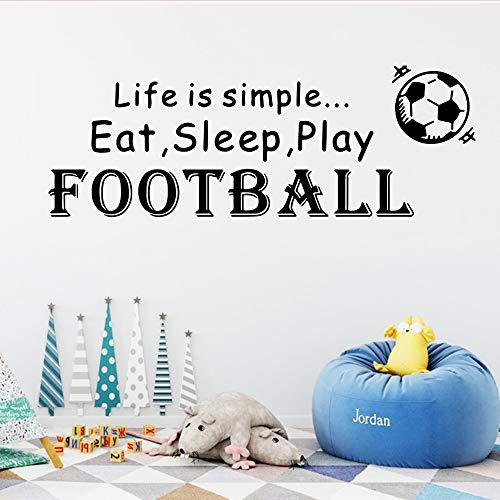 wlwhaoo 3D Zitate von Football Player Vinyl wandaufkleber tapete für kinderzimmer Aufkleber wandbild Jungen raumdekoration dekor Satz weiß m 30 cm x 84 cm - Adler-raum-dekor