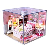 #10: Imported DIY Wooden Dolls house Miniature Kit w/ Light -Bedroom-15018595MG