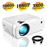 """Mini Projector, ELEPHAS 3800 Lumens Portable Projector Max 180"""" Display 50000 Hours Lamp"""