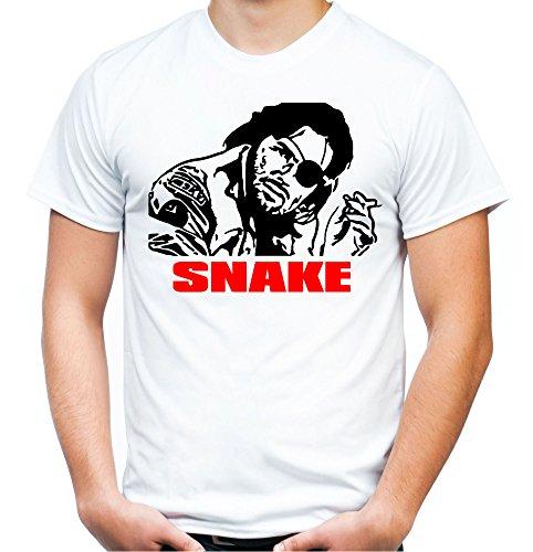 Snake Plissken Männer und Herren T-Shirt | Spruch Kurt Russell Kult Geschenk (XXL, Weiß)